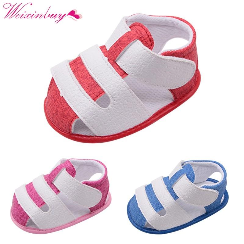 PU Baby Girl Sandals Fashion Summer Baby Shoes Cotton Soft Slip Sandal For Girls Beach Baby Boy Sandals