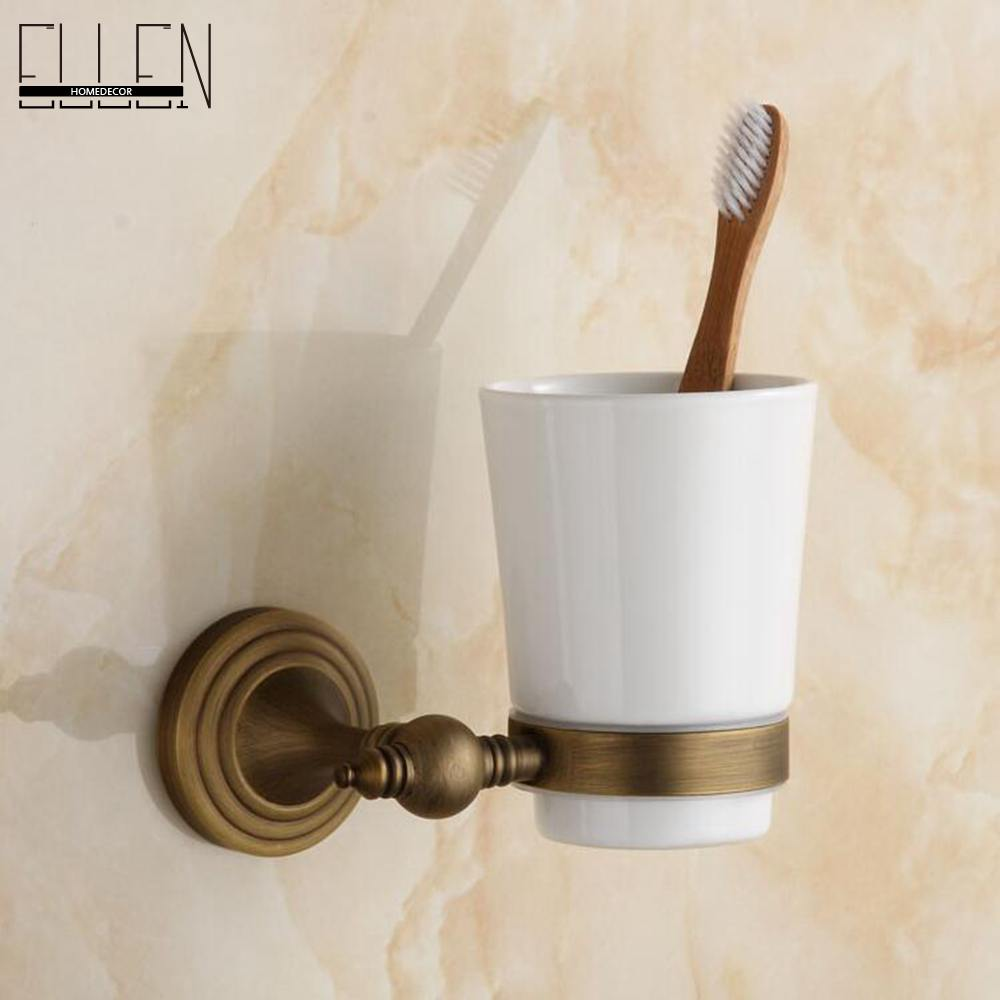 Bathroom Accessories Tumble Holder Antique Bronze Wall Mounted Toothbrush Holder Bathroom Hardware-80284 allen roth brinkley handsome oil rubbed bronze metal toothbrush holder