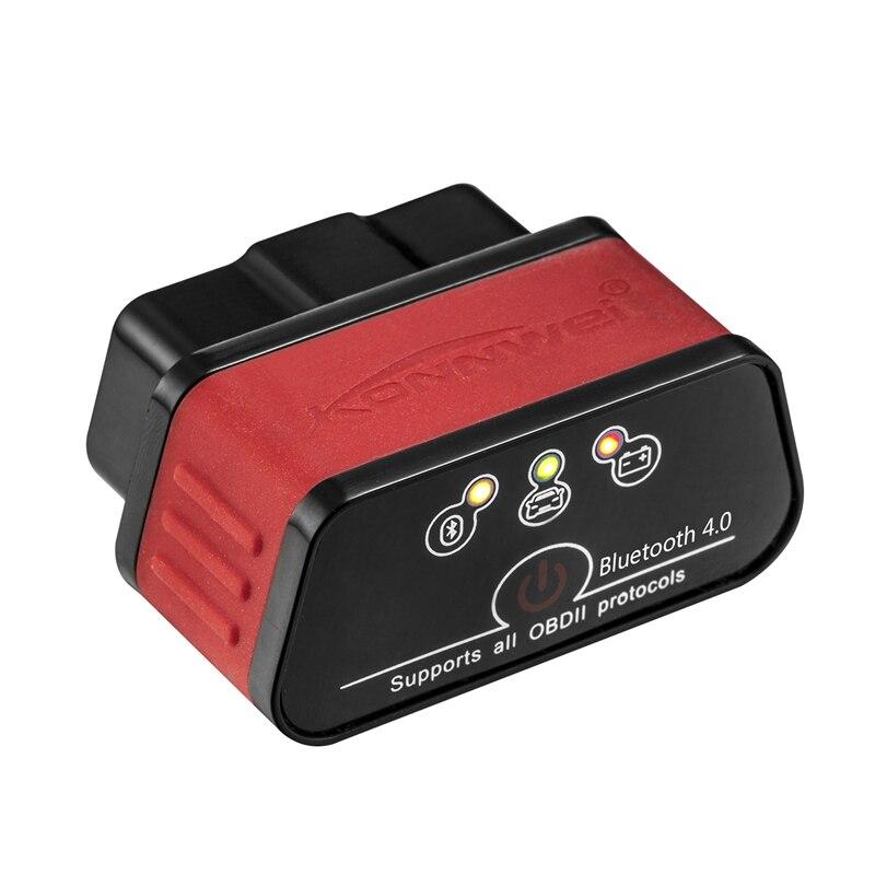 EML327 OBD2 V 1.5 Auto Diagnostica Scanner ODB 2 Autoscanner Konnwei KW903 ELM 327 OBD2 Bluetooth 4.0 Adattatore Per Iphone