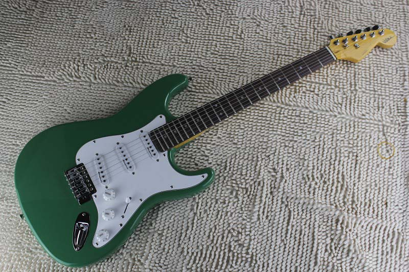 factory price wholesale custom body artist signature sss stratocaster green electric guitar free. Black Bedroom Furniture Sets. Home Design Ideas