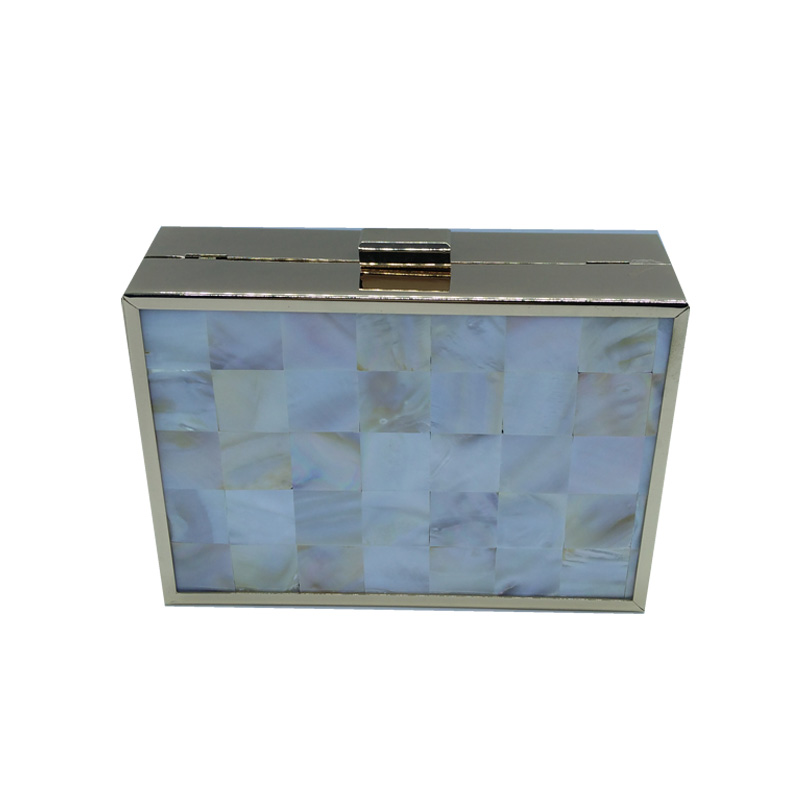 Wholesale Shell Hard Box Clutch Mother of Pearl Evening Clutch Bags for Party Wedding Bridal Clutch Wallet Acrylic Evening Bags environmentally friendly pvc inflatable shell water floating row of a variety of swimming pearl shell swimming ring