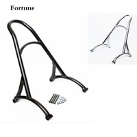 Motorcycle Black Chrome Short Passenger Sissy Bar Backrest For Harley Sportster XL Iron Nightster 883 1200
