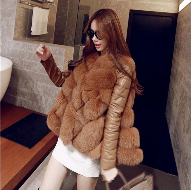 2016 Winter High Fashion Women's Luxurious Faux Fur Coat Socialite Thick Warm Leather Jacket Parkas Top Quality For Lady S-XXL