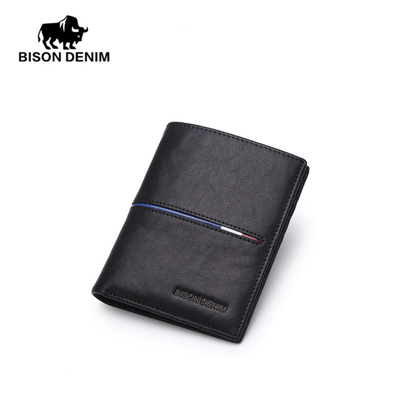 BISON DENIM Brand Genuine First Layer Leather Short Wallet Business Classic Purse Men's Wallet Cards Holder Casual Purse N4437-2 frank buytendijk dealing with dilemmas where business analytics fall short