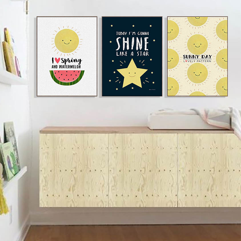 Modern Cute Star Sunshine Lovely Typography Posters Nordic