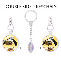 The Furious Five Kung Fu Panda Keychains Raccoon Master Styles Of Chinese Martial Arts Key Holder