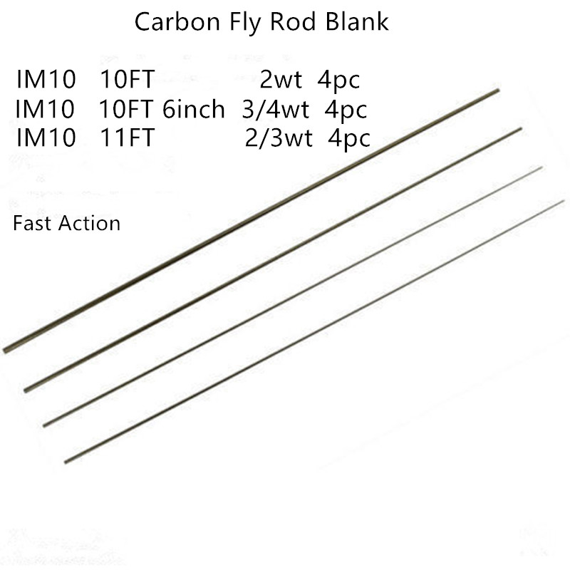 4pc Switch IM 8 Graphite Fly Rod blank 2//3wt Matte Black 11ft