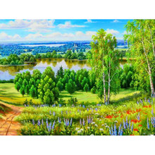 Diamond Embroidery Nature Scenery,Diamond Painting Cross Stitch Full Square Picture Rhinestones Mosaic Sale Home Decor YY(China)