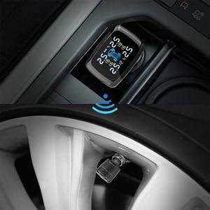 Image 5 - Smart Auto Tpms Bandenspanningscontrolesysteem Sigarettenaansteker Digitale Lcd scherm Auto Alarmsystemen Bandenspanning