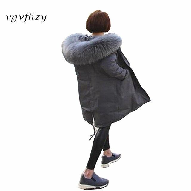 Grey Black Women Long Down Jacket Winter Duck Down Jackets Wide-Waisted Long Sleeve Fur Hooded Warm Winter Coat 2017 new LY573
