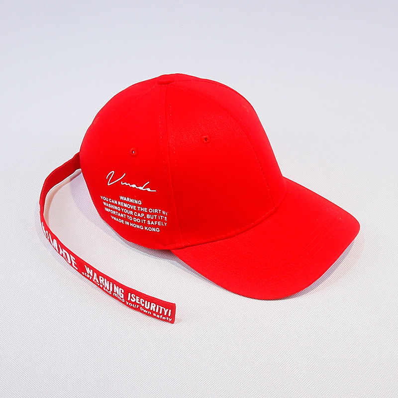 6b492183300 Korean version of the English letter long strap baseball cap male summer  trend duck cap female