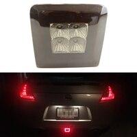 Red Smoke Lens LED Rear Fog Light Brake And Backup Reverse Light For 2009 Up Nissan