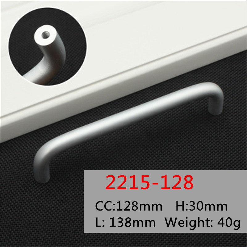 Length 138mm Hole Pitch 128mm Zinc Alloy Kitchen Furniture pulls Solid wardrobe handle drawer handle