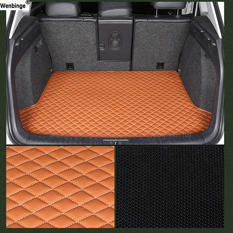 цена на wenbinge car trunk mats for toyota Rav4 PRADO Highlander COROLLA Camry Prius Reiz CROWN Cargo Liner Interior Accessories Carpet