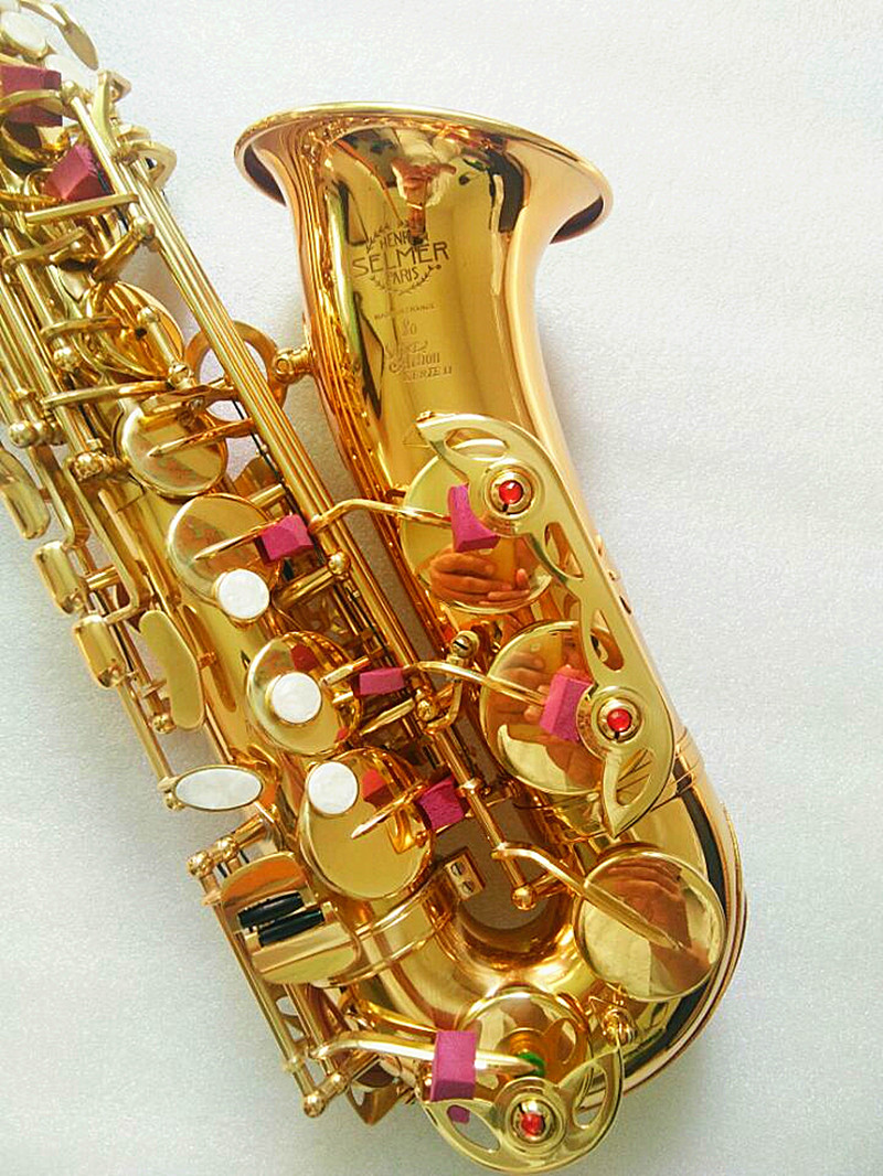 Saxophone Alto instrument High quality France SAS 802 new Golden alto sax instrument Real picture way