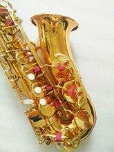Саксофон альт инструмент высококачественный французский SAS-802 новый золотой альт-саксофон реальное изображение пути подарок поставлен Sax