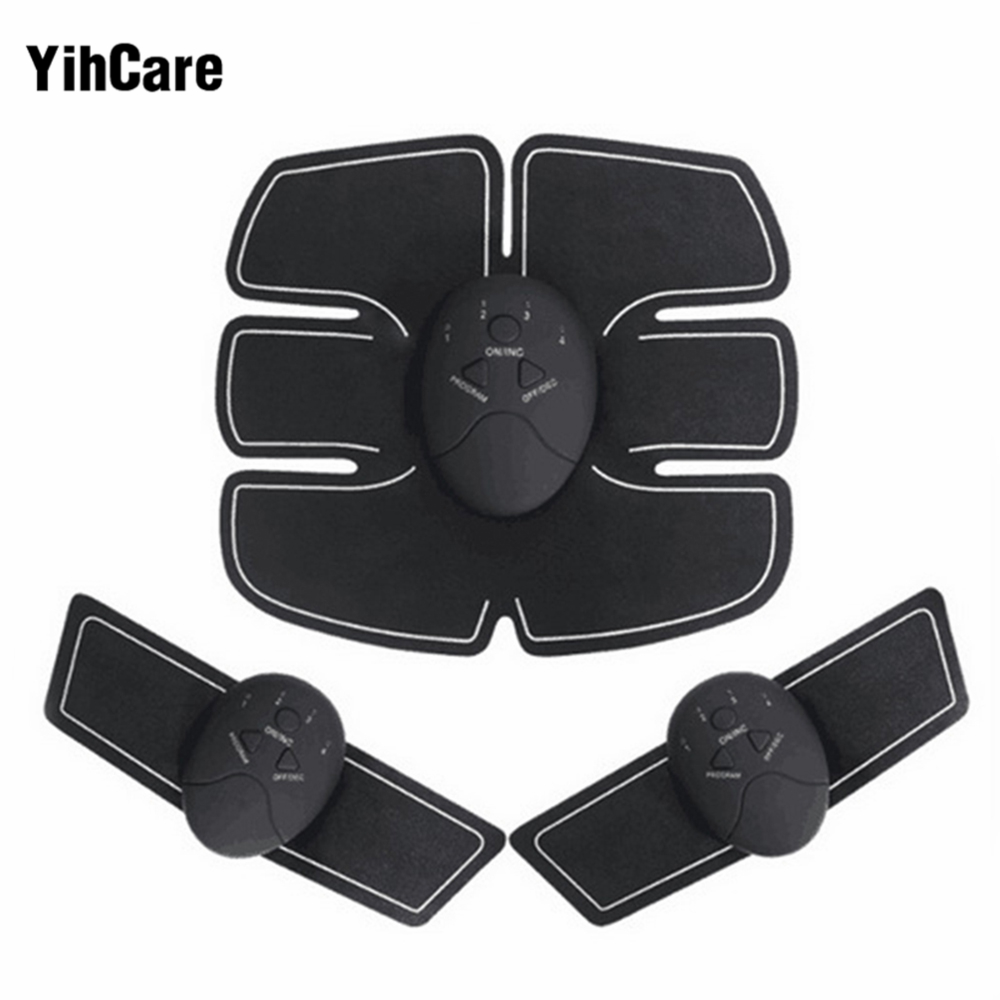 YihCare Smart EMS Abdominal Muscle Trainer Body Massage Electric Slimming Massager Training Pad Effective Fat Burner Gymnic Belt 2017 hot sale mini electric massager digital pulse therapy muscle full body massager silver