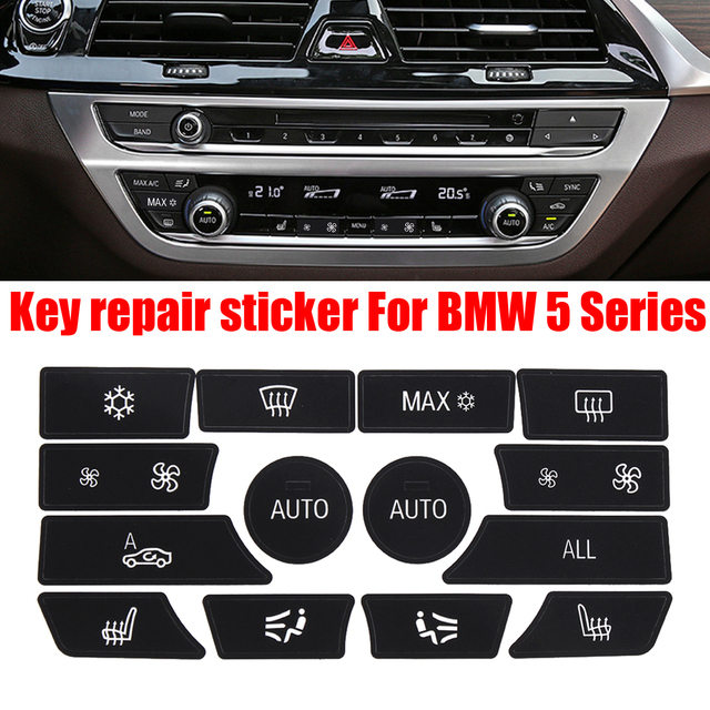 US $2 43 41% OFF|Button Sticker For BMW Dash Climate Control Panel Button  Repair Car Sticker Decal Kit For BMW 5 Series Car Sticker-in Automotive