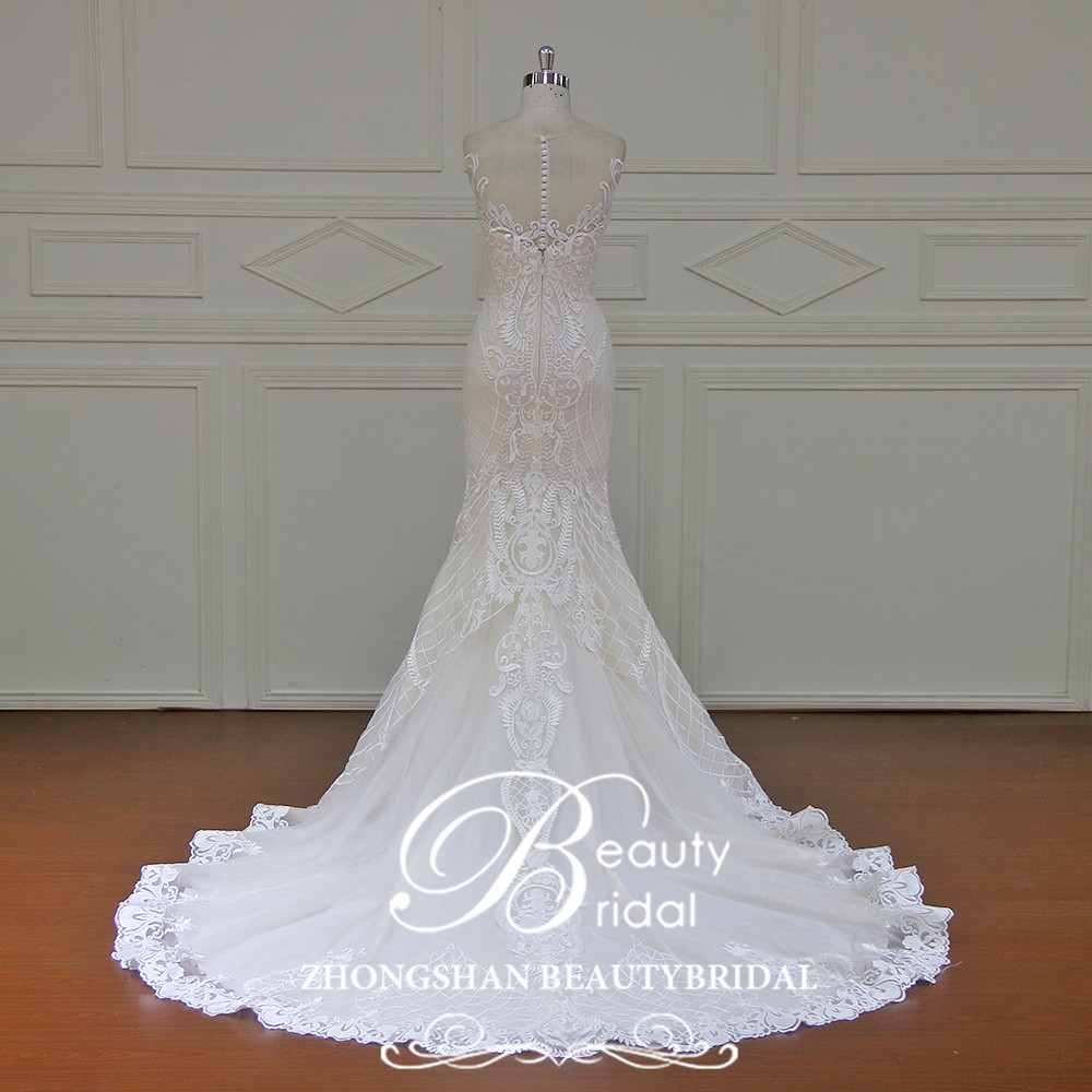 Eslieb 100% πραγματικές φωτογραφίες Robe - Γαμήλια φορέματα - Φωτογραφία 3