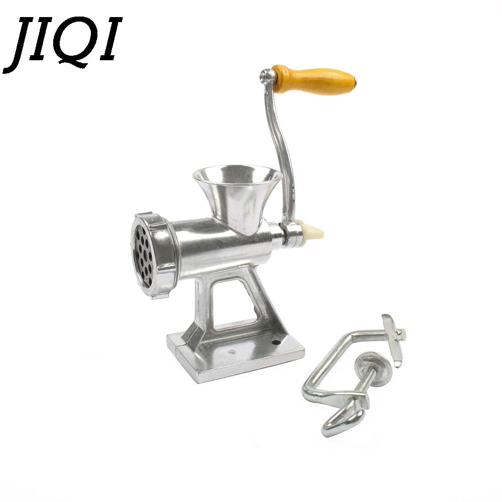 JIQI Multifunctional Meat Slicer Manual Noodles Grinder Mincer Sausage Stuffer Machine Table Hand-Crank Kitchen Miller Chopper