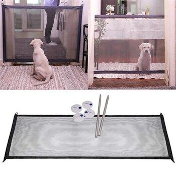 Cổng ma thuật Gấp Di Động Bảo Vệ An Toàn Cho Vật Nuôi Dog Cat Bị Cô Lập Gạc 110 cm x 75 cm
