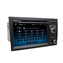 Fit Audi A4 (2002-2008) android 5.1.1 system hd 1024*600 car dvd player bluetooth gps navi 3G wifi navi free map rearview camera