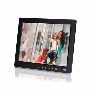10.4 inch digital photo frame digital album play pictures and videos picture player video player Seven touch buttons infront