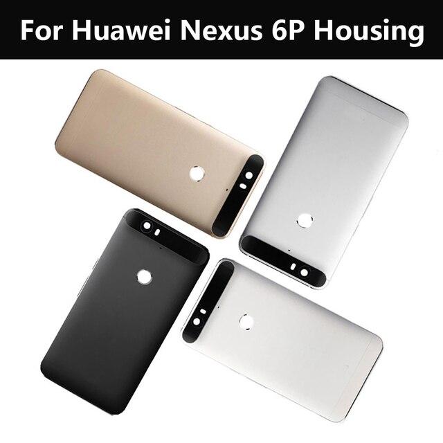 Черный Серебро Золото Белый Ремонт Часть Для Huawei Для Google Nexus 6 P H1512 H1511 Задняя Панель Корпуса Задняя Дверь Задняя Крышка Корпуса