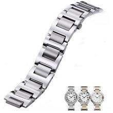 Neway Stainless Steel Watch band For Cartier Ballon Bleu Silver Rose Gold Strap Bracelet Men Women Watchband 9mm 11mm 12mm