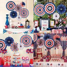 6 шт Вечерние Декорации для Дня независимости вечерние украшения для стен
