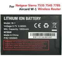 Batería de 3,7 V para Netgear Sierra Wireless Router Aircard W-1 W-3 W-5 W-7 W-10 1800 mAh 2000 mAh 2500 mAh 2930 MaH 5040 mAh acumulador