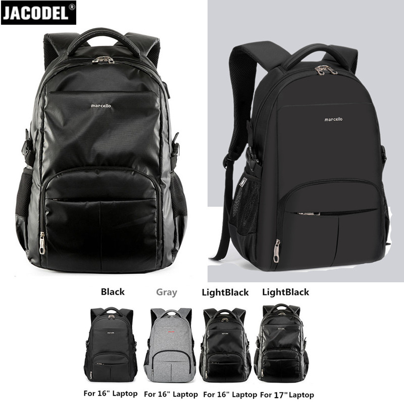 Jacodel Unisex 19 18 17 inch Laptop Bag Notebook Backpack for 15.6 17.3 Laptop Men Travel Backpack College Student School Bags jacodel 2017 business 15 inch laptop bag computer backpack bags for men women school bag backpack for teenagers travel bags case