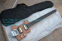 Freies verschiffen neue Große John headless gitarre mit erle korpus und ebenholz griffbrett in natürliche F-1607