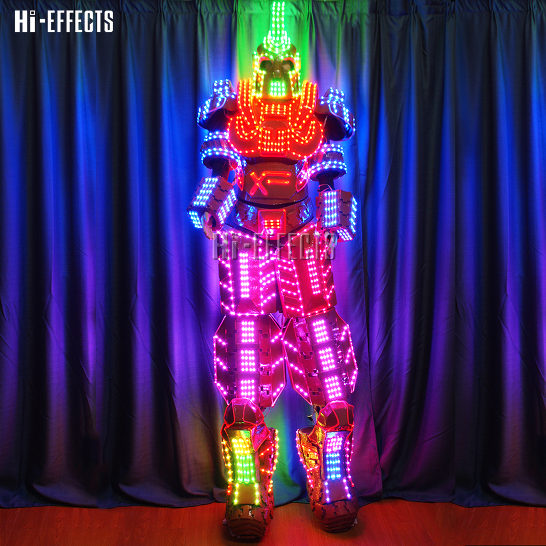 LED dancer costume luminous robot suits DJ nightclub performance wear led lights costume led suits f