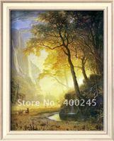 Pinturas de paisagens da natureza da arte moderna hetch hetchy canyon by albert bierstadt reprodução de alta qualidade 100% artesanal