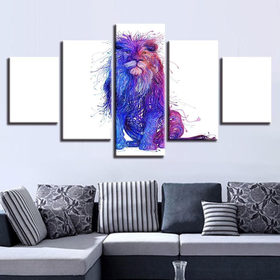 Online Shop Framework Home Decoration Wall HD Prints 5 Pieces ...