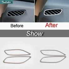 Tonlinker 2 шт. DIY Автомобильный Стайлинг из нержавеющей стали приборная панель маленький вентиляционный чехол наклейки для Mitsubishi Outlander 2013-16