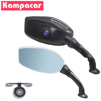Kampacar HD 1080P Motorcycle DVR Dash Cam Camera Dvr For Motorcycle Recorder Rearview Mirror With Rear View Camera Auto Two DVRs