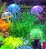 New Beauty Fluorescent Glowing Effect Jellyfish Aquarium Ornament Swim Pool Decor LY2