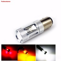 2Pcs Lot 1156 P21W BA15S 12V 24V White Red Amber LED Car Light Bulb 30W High