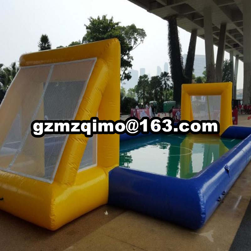 durable inflatable football field 13*6m factory direct sale inflatable soccer field for sport game with free air pump