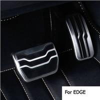 De coches de estilo de Coche de acero Inoxidable pedal del Freno Gas Pedales de Cubrir EN caso para Ford Mondeo EDGE 2015-2016, accesorios de auto
