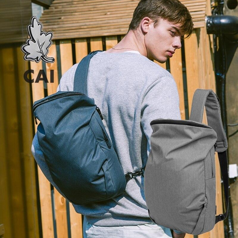 CAI 2019 High Capacity Crossbody Messenger Bag Men Fashion Sling Bucket School Travel Shoulder Designer Bags Male Back Pack(China)