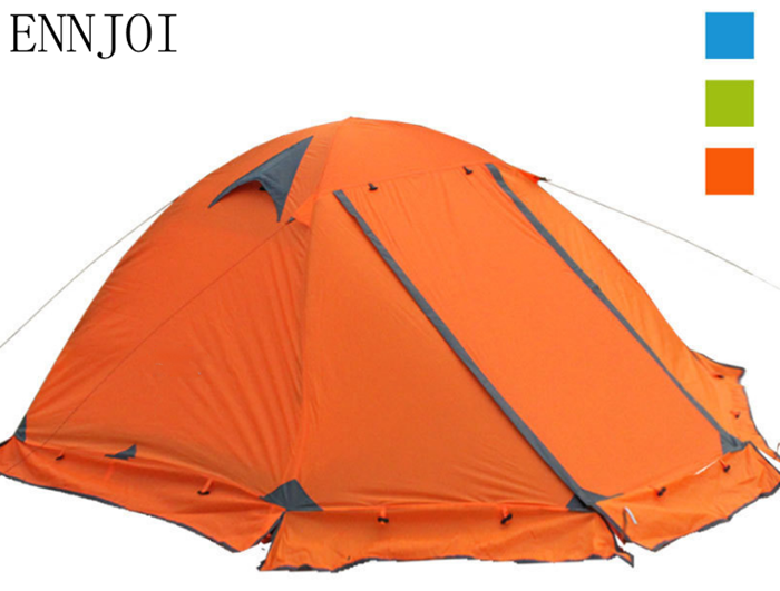2Person Camping Tent Outdoor Recreation Double Layer Waterproof 210T Polyester Tourist Tent Travel tents Four seasons mobi outdoor camping equipment hiking waterproof tents high quality wigwam double layer big camping tent
