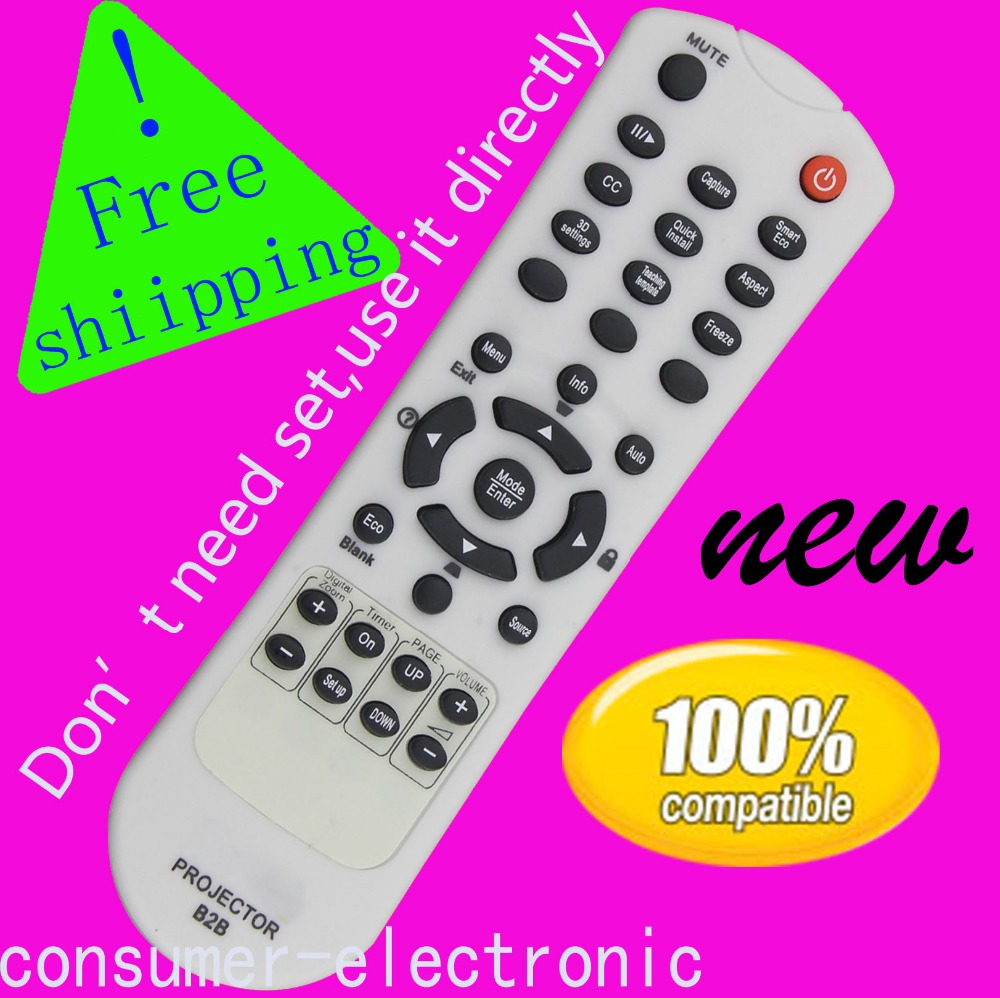 NEW Genuine OEM Epson Projector Remote Control for MG-850HD MG-50 30s 30c
