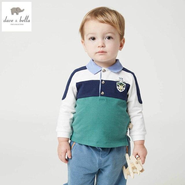 DB4921 дэйв белла весна мальчик модные Футболки детские Футболки дети топ