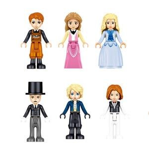 Image 5 - 731pcs Princes Windsor Castle Model Building Blocks Compatible Legoings Friends Carriage Figures Educational Toys For Girl Child