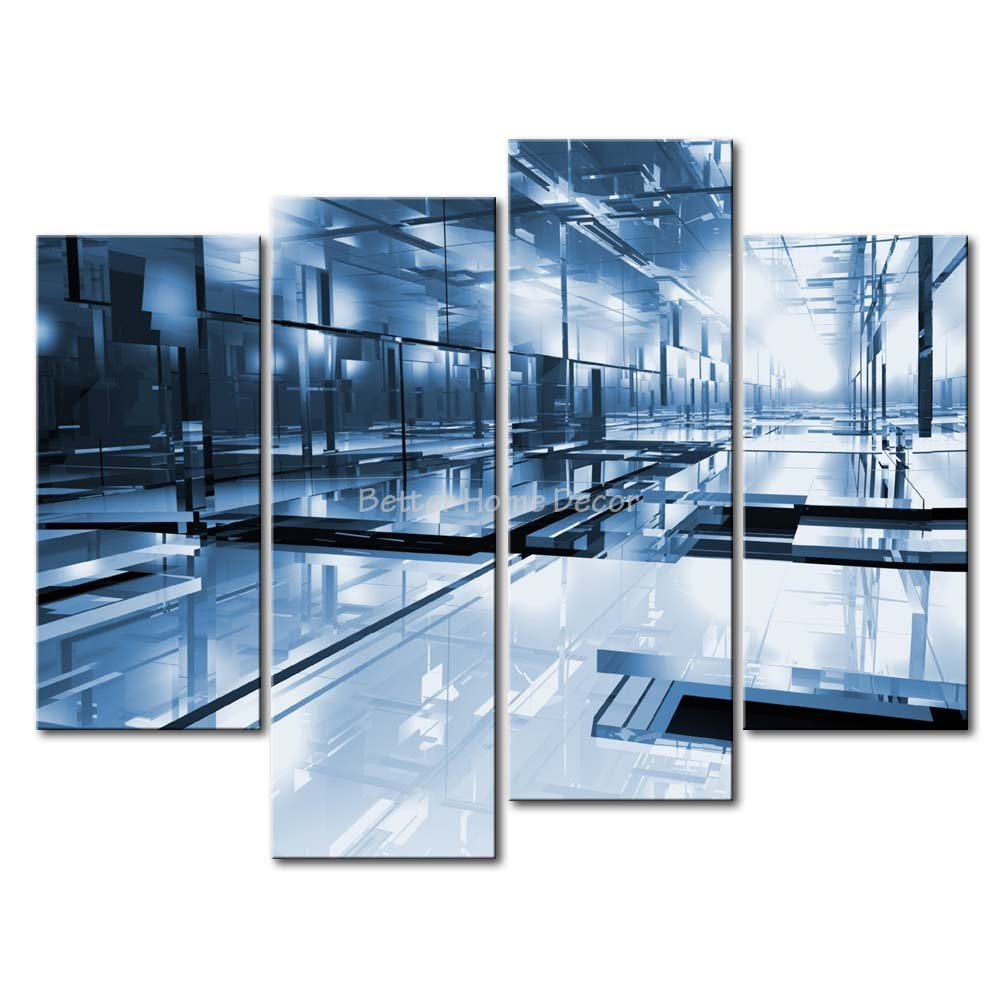 3 piece wall art painting glass room picture print on canvas