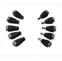 12V 2.1 x 5.5mm DC Power Male Female Plug Jack Adapter Connector Plug for CCTV single color LED Light