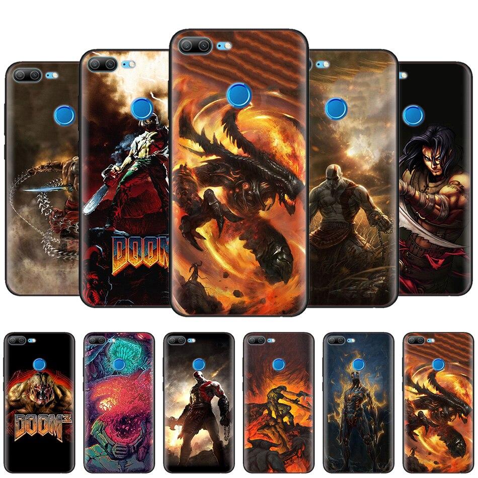US $2 15 45% OFF|Black Silicone Case Bag Cover for Huawei Honor 10i Y7 Y6  Y5 Y9 8X 8C 8S 9 10 Lite Pro 2018 2019 Enjoy 9E 9S Doom H1Z1 Stalker-in